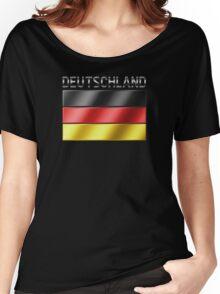 Deutschland - German Flag & Text - Metallic Women's Relaxed Fit T-Shirt