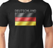 Deutschland - German Flag & Text - Metallic Unisex T-Shirt