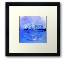 Dreamy Blue Landscape Framed Print