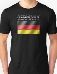 Germany - German Flag & Text - Metallic T-Shirt