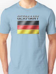 Germany - German Flag & Text - Metallic Unisex T-Shirt