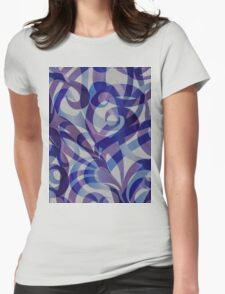 Floral Abstract  Womens Fitted T-Shirt