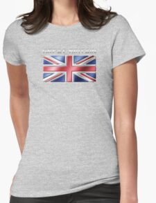 Great Britain - British Flag & Text - Metallic Womens Fitted T-Shirt