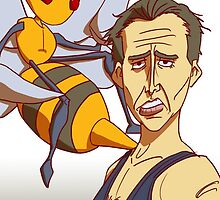 Nicolas Cage: not the beedrill by ekimprox