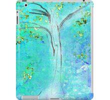 Blue and Green Tree Design iPad Case/Skin