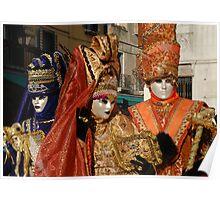 Carnival Goers in Costume Poster