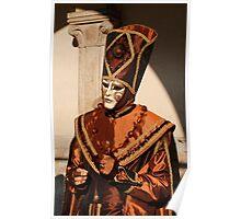 Man in Bronze Carnival Costume Poster