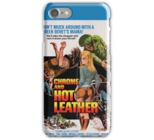 Chrome and Hot Leather (Blue) iPhone Case/Skin