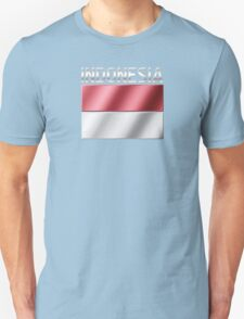 Indonesia - Indonesian Flag & Text - Metallic Unisex T-Shirt