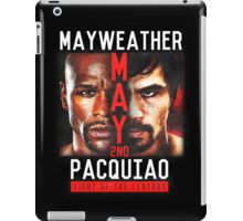 Floyd Mayweather VS Manny Pacquiao shirt, poster, and more iPad Case/Skin