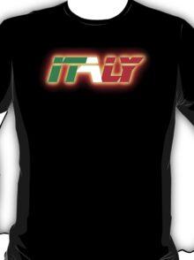 Italy - Flag Logo - Glowing T-Shirt