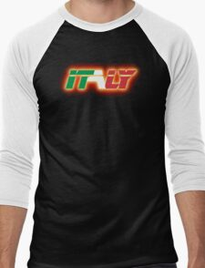 Italy - Flag Logo - Glowing Men's Baseball ¾ T-Shirt