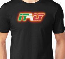 Italy - Flag Logo - Glowing Unisex T-Shirt