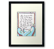 Psalm 139 Framed Print
