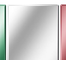 Italia - Italian Flag & Text - Metallic Sticker