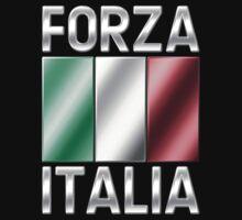 Forza Italia - Italian Flag & Text - Metallic by graphix