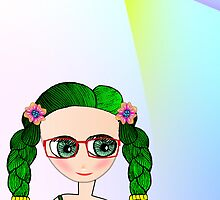 Green Eyed Geeky Doll by tandoor