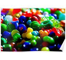 Bright shiny beads Poster