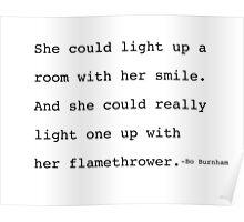 Bo Burnham- Flamethrower Poem Poster
