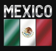 Mexico - Mexican Flag & Text - Metallic by graphix