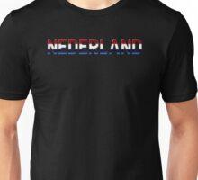Nederland - Dutch Flag - Metallic Text Unisex T-Shirt