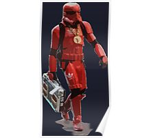 Baller Hip Hop Storm Trooper Adidas Track Suit with Boombox and Chain Poster