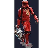 Baller Hip Hop Storm Trooper Adidas Track Suit with Boombox and Chain Photographic Print