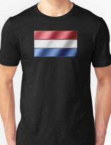 Dutch Flag - Netherlands - Metallic Unisex T-Shirt