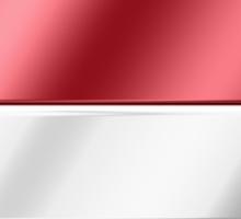 Nederland - Dutch Flag & Text - Metallic Sticker