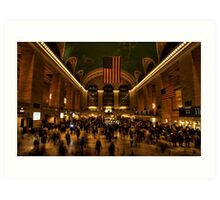 Rush hour at Grand Central Art Print