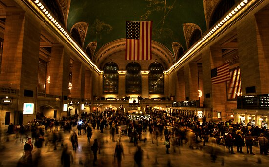 Rush hour at Grand Central by David Robinson