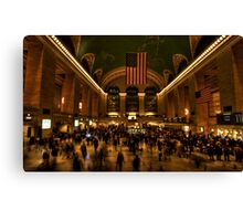 Rush hour at Grand Central Canvas Print