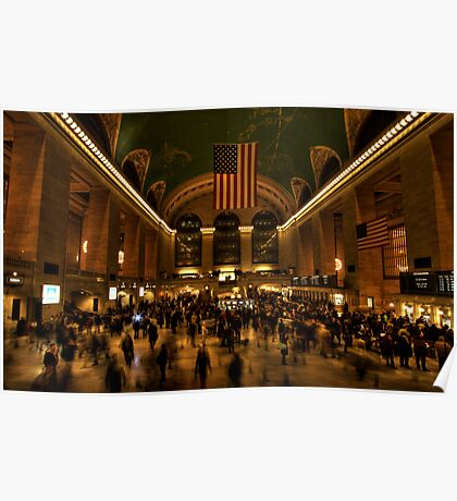 Rush hour at Grand Central Poster