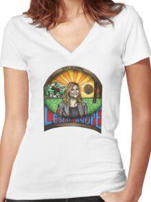 Leslie Knope Women's Fitted V-Neck T-Shirt