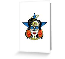 Wonder Woman Sugar Skull Greeting Card