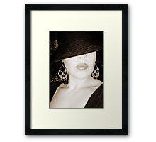 the mobster's wife Framed Print