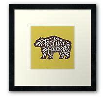Brave Bear Framed Print