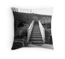 Canal bridge and trolley Throw Pillow