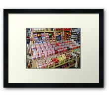 Spoiled for Choice - Shop Display Framed Print