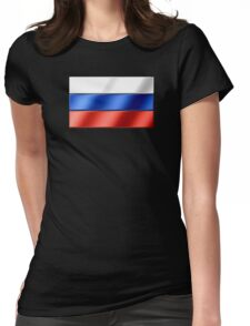 Russian Flag - Russia - Metallic Womens Fitted T-Shirt