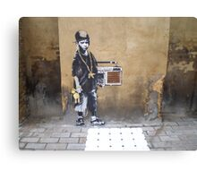Banksy Kid Canvas Print
