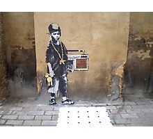 Banksy Kid Photographic Print