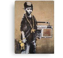 Banksy Kid Detail Canvas Print