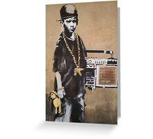 Banksy Kid Detail Greeting Card