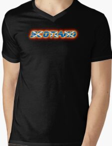 Scotland - Scottish Flag Logo - Glowing Mens V-Neck T-Shirt