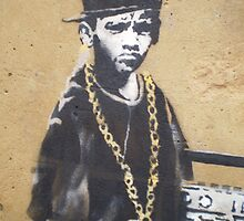 Banksy Dalston Kid close up by runjoerun