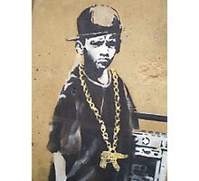 Banksy Dalston Kid close up Photographic Print