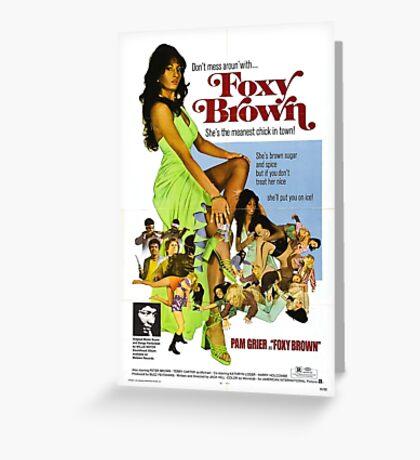 Foxy Brown (Green) Greeting Card