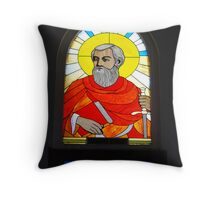 Window of St Paul, Catholic Church, Sapa, Nth Vietnam Throw Pillow
