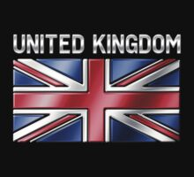 United Kingdom - British Flag & Text - Metallic by graphix